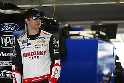 October 19, 2018 - Kansas City, Kansas, United States of America - Brad Keselowski (2) hangs out in the garage during practice for the Hollywood Casino 400 at Kansas Speedway in Kansas City, Kansas. (Credit Image: © Justin R. Noe Asp Inc/ASP via ZUMA Wire)