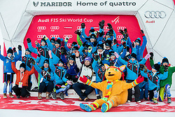Tina Maze (SLO) with children at official retirement ceremony after the 6th Ladies' Giant slalom at 53rd Golden Fox - Maribor of Audi FIS Ski World Cup 2015/16, on January 7, 2017 in Pohorje, Maribor, Slovenia. Photo by Vid Ponikvar / Sportida