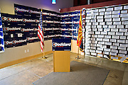 08 OCTOBER 2010 - PHOENIX, AZ:  The press conference corner at Terry Goddard's campaign headquarters in downtown Phoenix Friday, Oct. 8. Goddard lost the election to sitting Governor Jan Brewer, a conservative Republican.     PHOTO BY JACK KURTZ