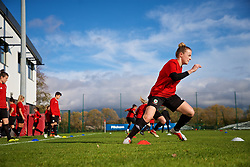 NEWPORT, WALES - Tuesday, November 6, 2018: Wales' Kylie Nolan during a training session at Dragon Park ahead of two games against Portugal. (Pic by Paul Greenwood/Propaganda)