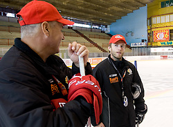 Ildar Rahmatullin and Dejan Varl at HK Acroni Jesenice Team roaster for 2009-2010 season,  on September 03, 2009, in Arena Podmezaklja, Jesenice, Slovenia.  (Photo by Vid Ponikvar / Sportida)