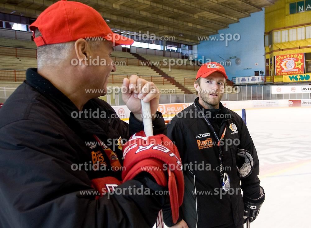 Ildar Rahmatullin and Dejan Varl at HK Acroni Jesenice Team roaster for 2009-2010 season,  on September 03, 2009, in Arena Podmezaklja, Jesenice, Slovenia.  (Photo by Vid Ponikvar / Sportida)