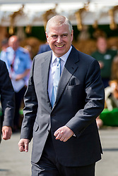 © Licensed to London News Pictures. 11/07/2019. Harrogate UK. HRH The Duke of York Prince Andrew is visiting the 161st Great Yorkshire Show today. His Royal Highness will visit the Show meeting officials, competitors and exhibitors at England's premier agricultural show on the Great Yorkshire Showground, Harrogate.Photo credit: Andrew McCaren/LNP