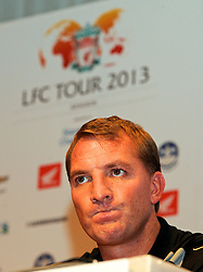 BANGKOK, THAILAND - Friday, July 26, 2013: Liverpool's manager Brendan Rodgers during a press conference at the Plaza Athenee Hotel ahead of their preseason friendly match against Thailand. (Pic by David Rawcliffe/Propaganda)