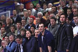 Fans of KK Domzale at NLB League ABA basketball match between KK Helios Domzale and KK Zagreb Croatia Osiguranje, on October 31, 2008, in Domzale, Slovenia.  (Photo by Vid Ponikvar / Sportida)