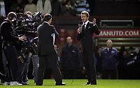 Photo: Paul Thomas.<br /> Manchester United v Europe XI. Friendly match. 13/03/2007.<br /> <br /> David Beckham comes out to the centre to thank the crowd for turning up and supporting Man Utd.