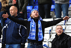 Birmingham City fans taunt each other before kick-off - Mandatory by-line: Nizaam Jones/JMP - 29/10/2017 - FOOTBALL - St Andrew's Stadium - Birmingham, England - Birmingham City v Aston Villa - Sky Bet Championship