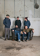 The Scottish band Mogwai photographed at the Glue Factory in Glasgow,Scotland November 16th 2013<br /> Band members Stuart Braithwaite, Dominic Aitchison, Martin Bulloch,John Cummings