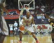 "Ole Miss guard Dundrecous Nelson (5) at C.M. ""Tad"" Smith Coliseum in Oxford, Miss. on Saturday, December 4, 2010."