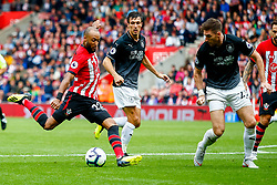 Nathan Redmond of Southampton is marked by Stephen Ward of Burnley - Mandatory by-line: Ryan Hiscott/JMP - 12/08/2018 - FOOTBALL - St Mary's Stadium - Southampton, England - Southampton v Burnley - Premier League