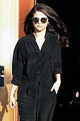 Selena Gomez leaving the Z100 studio