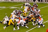 Denver Broncos vs. Pittsburgh Steelers NFL football game, Invesco Field at Mile High (stadium), Denver, Colorado USA