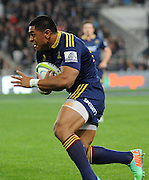 Malakai Fekitoa in action for the Highlanders. Investec Super Rugby - Highlanders v Rebels 4 April 2014, Forsyth Barr Stadium, Dunedin, New Zealand. Photo: New Zealand. Photo: Richard Hood/www.photosport.co.nz