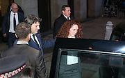 Rebekah Brooks and husband Charlie leave the Old Bailey after it was revealed that Coulson &amp; Brooks had a six year affair on October 31, 2013.<br /> <br /> Brooks will stand trial alongside former managing editor Stuart Kuttner; former news editor Ian Edmondson; and Rebekah Brooks. All deny conspiracy to intercept mobile phone voicemail messages. Coulson and former NotW royal editor Clive Goodman deny charges of conspiracy to commit misconduct in a public office. Brooks also denies two charges of this. She also faces charges of conspiracy to pervert the course of justice, along with former personal assistant Cheryl Carter, 49, husband Charlie Brooks, 50, and NI head of security Mark Hanna, 50. <br /> Photo Ki Price
