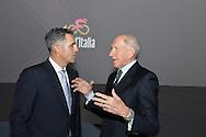 Presentazione Giro d'Italia 2017 il giro del 100 a sinistra Miguel Indurian e Vittorio Adorni - Milano - Palazzo del Ghiaccio - 25 ottobre 2016 © foto Remo Mosna
