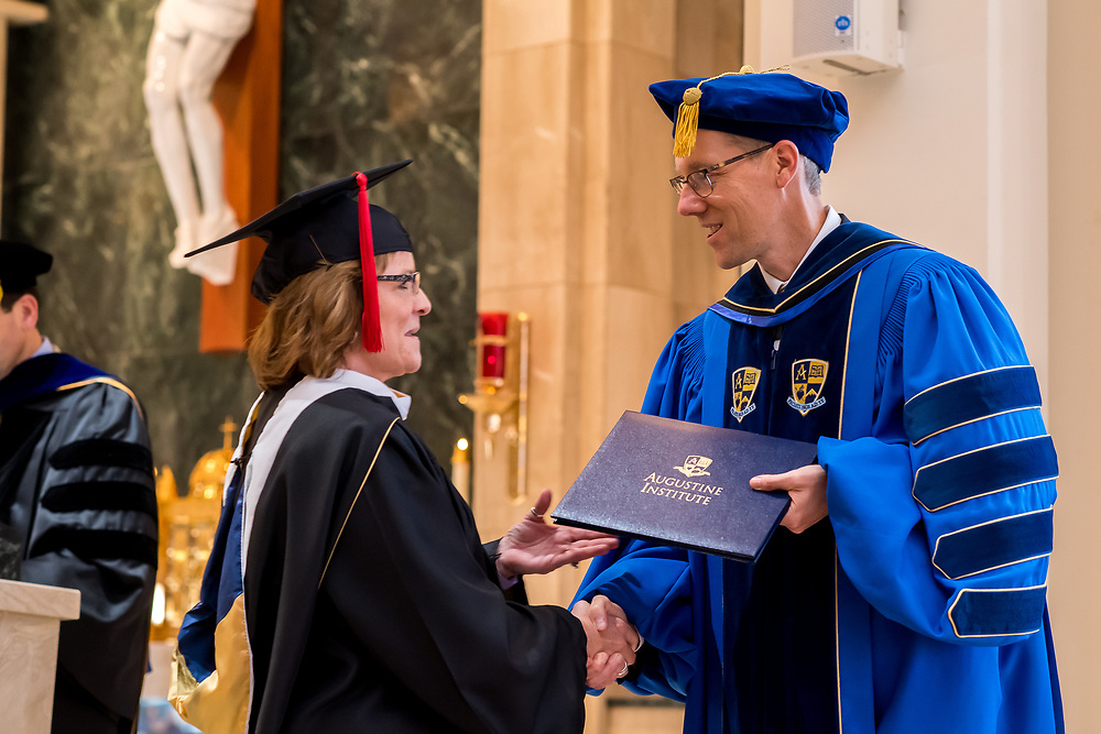 ENGLEWOOD, CO - MAY 11: Augustine Institute Graduation Mass and Commencement at St. Thomas More Catholic Church on May 11, 2019, in Englewood, Colorado. (Photo by Daniel Petty/Augustine Institute)