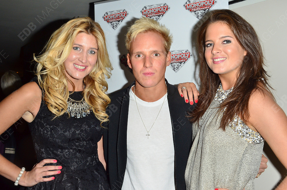 04.OCTOBER.2012. LONDON<br /> <br /> FRANCESCA HULL, BINKY FELSTEAD AND JAMIE LAING ATTEND THE MONOPOLY MILLIONAIRE LAUNCH PARTY AT THE MAYFAIR HOTEL.<br /> <br /> BYLINE: EDBIMAGEARCHIVE.CO.UK<br /> <br /> *THIS IMAGE IS STRICTLY FOR UK NEWSPAPERS AND MAGAZINES ONLY*<br /> *FOR WORLD WIDE SALES AND WEB USE PLEASE CONTACT EDBIMAGEARCHIVE - 0208 954 5968*
