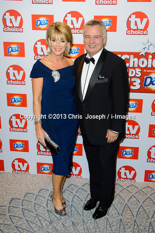 TV Choice Awards 2013 - London.<br /> Ruth Langsford and Eamonn Holmes arriving at the TV Choice Awards 2013, The Dorchester Hotel, London, United Kingdom. Monday, 9th September 2013. Picture by Chris  Joseph / i-Images
