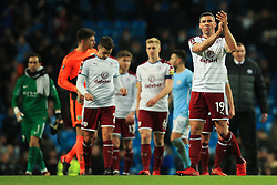 Jonathan Walters of Burnley thanks the fans at full time - Mandatory by-line: Matt McNulty/JMP - 06/01/2018 - FOOTBALL - Etihad Stadium - Manchester, England - Manchester City v Burnley - Emirates FA Cup Third Round