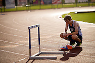 "Xavier Mascareñas/Treasure Coast Newspapers; Sebastian River High School cross-country runner Rob McCartney has a quiet moment to himself after the meet Tuesday, Sept. 8, 2015, in Sebastian. ""I think I did pretty well,"" McCartney said of his performance."