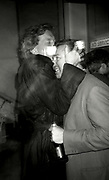 Tony Wilson kisses Peter Hook of New Order, UK, 1990s