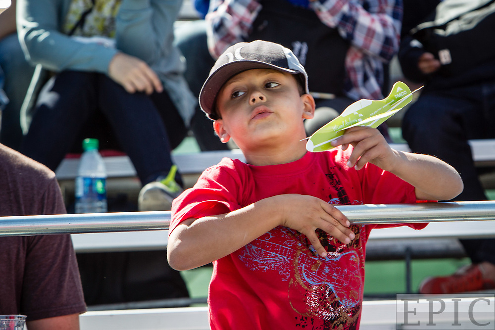 RENO, NV - SEPTEMBER 17: A young fan watches the races at the Reno Championship Air Races on September 17, 2017 in Reno, Nevada. (Photo by Jonathan Devich/Getty Images) *** Local Caption ***