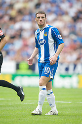 WIGAN, ENGLAND - Sunday, May 11, 2008: Wigan Athletic's Jason Koumas in action against Manchester United during the final Premiership match of the season at the JJB Stadium. (Photo by David Rawcliffe/Propaganda)