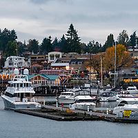 Morning at Friday Harbor on San Juan Island in the San Juan Islands of Washington State.
