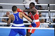 Bengoro Bamba (FRA) competes on Men's 75 kg boxingduring the Jeux Mediterraneens 2018, in Tarragona, Spain, Day 8, on June 29, 2018 - Photo Stephane Kempinaire / KMSP / ProSportsImages / DPPI