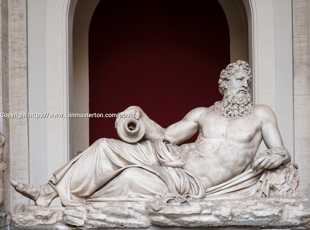 River god (Arno).at  the Octagonal Court of the Pio Clementino in the Vatican Museum Rome Italy