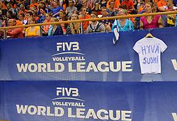 20150613 NED: World League Nederland - Finland, Almere<br /> Support Finland boarding World League