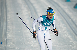 February 25, 2018 - Pyeongchang, South Korea - Kerttu Niskanen of Finland compete during the Ladies Cross Country Skiing Mass Start 30k at the PyeongChang 2018 Winter Olympic Games at Alpensia Cross-Country Skiing Centre on Sunday February 25, 2018. (Credit Image: © Paul Kitagaki Jr. via ZUMA Wire)