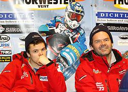13.03.2016, Assen, BEL, FIM Eisspeedway Gladiators, Assen, im Bild Luca Bauer (GER), Guenther Bauer (GER) // during the Astana Expo FIM Ice Speedway Gladiators World Championship in Assen, Belgium on 2016/03/13. EXPA Pictures &copy; 2016, PhotoCredit: EXPA/ Eibner-Pressefoto/ Stiefel<br /> <br /> *****ATTENTION - OUT of GER*****
