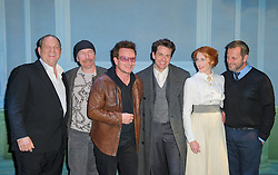 Hollywood producer Harvey Weinstein and U2's Bono and The Edge with Julian Ovenden, Rosalie Craig and director Rob Ashford, on Saturday, 22 September, at the opening night of Harvey Weinstein's new musical Finding Neverland at The Curve theatre, Leicester. Photo By Anthony Upton / i-Images..For further info please contact.Nancy@dundascommunications.com