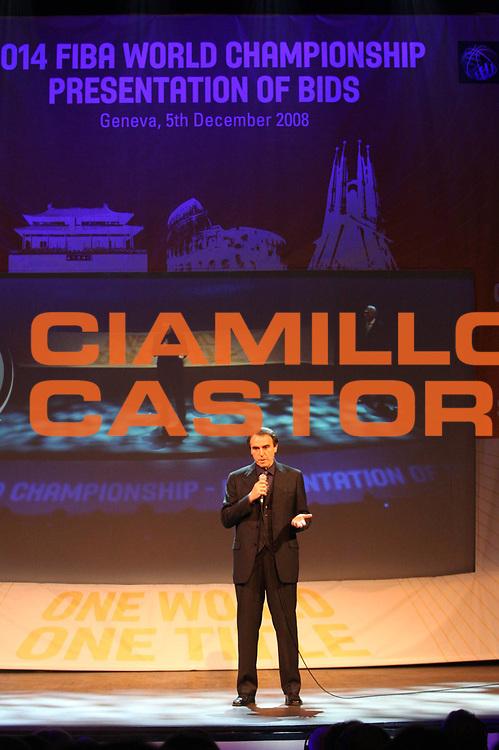 DESCRIZIONE : Ginevra Geneve Conferenza stampa Italia Mondiali 2014 FIBA presentazione candidatura bidding country Alhambra Theatre <br /> GIOCATORE : Carlo Recalcati <br /> SQUADRA : <br /> EVENTO : Presentazione candidatura Italia Mondiali 2014<br /> GARA : <br /> DATA : 05/12/2008 <br /> CATEGORIA : Ritratto<br /> SPORT : Pallacanestro <br /> AUTORE : Agenzia Ciamillo-Castoria/G.Ciamillo<br /> Galleria : Fip Nazionali 2008<br /> Fotonotizia : Ginevra Geneve Conferenza stampa Italia Mondiali 2014 FIBA presentazione candidatura bidding country Alhambra Theatre <br /> Predefinita :