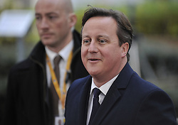 (131219) <br /> British Prime Minister David Cameron arrives at EU headquarters for an EU summit in Brussels, capital of Belgium,  Thursday, 19th December 2013. Picture by  imago / i-Images<br /> <br /> UK ONLY