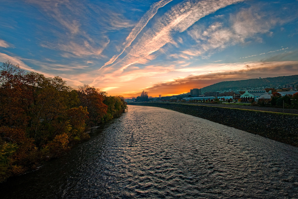 Late in the fall before daylight savings you can catch sunrise around 7am. Some days I like to grab coffee and sit on the Fahy Bridge while waiting for the sun to wake Bethlehem up.