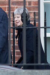 © Licensed to London News Pictures. 30/01/2018. London, UK. British Prime Minister Theresa May leaves Downing Street for a diplomatic and trade visit to China. Photo credit : Tom Nicholson/LNP