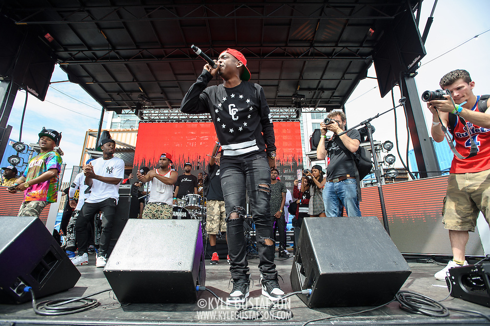WASHINGTON, DC - August 17th, 2013 -  Washington D.C. rapper Phil Ade performs early in the day at the 2013 Trillectro Festival at the Half Street Fairgrounds in Washington, D.C. (Photo by Kyle Gustafson / For The Washington Post)