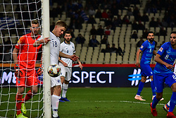 November 15, 2018 - Athens, Attiki, Greece - Missing chance for Greek team to score. (Credit Image: © Dimitrios Karvountzis/Pacific Press via ZUMA Wire)