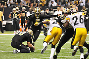 The New Orleans Saints play the Pittsburgh Steelers in New Orleans at the SuperDome in Louisiana on Halloween Oct.31 2010. The Saints went on to win 20 -10 in a very physical game. Photo©SuziAltman.