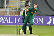 Jake Ball following through during the Royal London 1 Day Cup match between Worcestershire County Cricket Club and Nottinghamshire County Cricket Club at New Road, Worcester, United Kingdom on 27 April 2017. Photo by Simon Trafford.