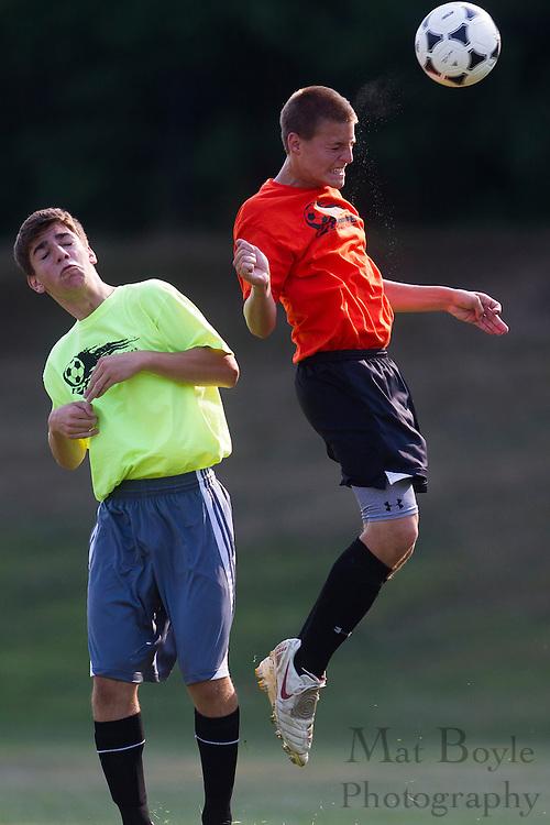 Pitman High School Soccer vs Salem High School in a summer league match at Alcyon Park in Pitman, NJ on June 28, 2012. (photo / Mat Boyle)