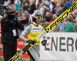 27.09.2015, Energie AG Skisprung Arena, Hinzenbach, AUT, FIS Ski Sprung, Sommer Grand Prix, Hinzenbach, im Bild Kento Sakuyama (JPN) // during FIS Ski Jumping Summer Grand Prix at the Energie AG Skisprung Arena, Hinzenbach, Austria on 2015/09/27. EXPA Pictures © 2015, PhotoCredit: EXPA/ Reinhard Eisenbauer