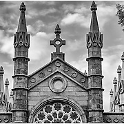 Bigelow Chapel at Mount Auburn Cemetery in Watertown, MA.  This structure is a tribute to those who fell during the Civil War.<br />
