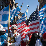 New York greek parade on Fifth avenue, Greece national day/ parade grecque sur la cinquieme avenue