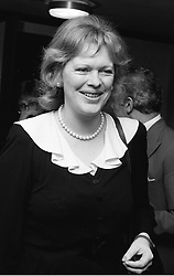 LADY ANTONIA PINTER (Lady Antonia Fraser) at<br /> a party in March 1981.          ITR 28