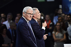 October 10, 2018 - Paris, Ile-de-France (region, France - Francois de Rugy, the Minister of the Ecological and Solidarity Transition, visits Electric Day with EDF CEO Jean-Bernard Levy. (Credit Image: © Julien Mattia/Le Pictorium Agency via ZUMA Press)