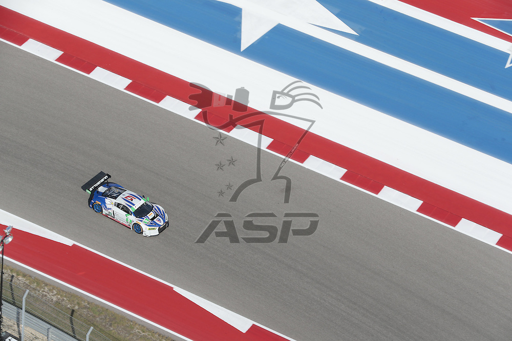 Austin, TX - Sep 15, 2016:  The Stevenson Motorsports Audi R8 LMS GT3 races through the turns at the Lone Star Le Mans at Circuit of the Americas in Austin, TX.