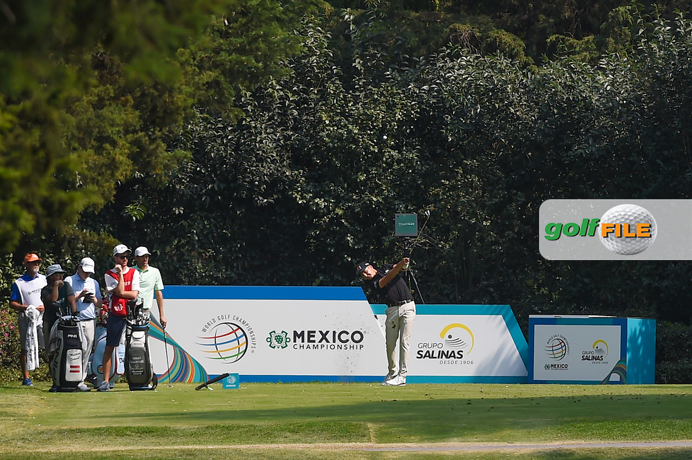 Matthias Schwab (AUT) hits his tee shot on 3 during Rd4 of the World Golf Championships, Mexico, Club De Golf Chapultepec, Mexico City, Mexico. 2/23/2020.<br /> Picture: Golffile | Ken Murray<br /> <br /> <br /> All photo usage must carry mandatory copyright credit (© Golffile | Ken Murray)
